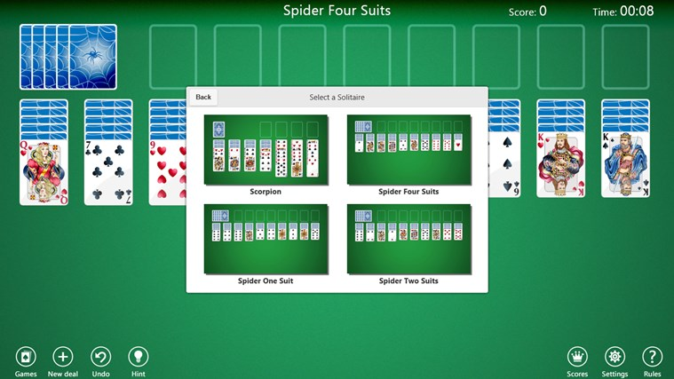 Spider Solitaire Collection Free screen shot 1