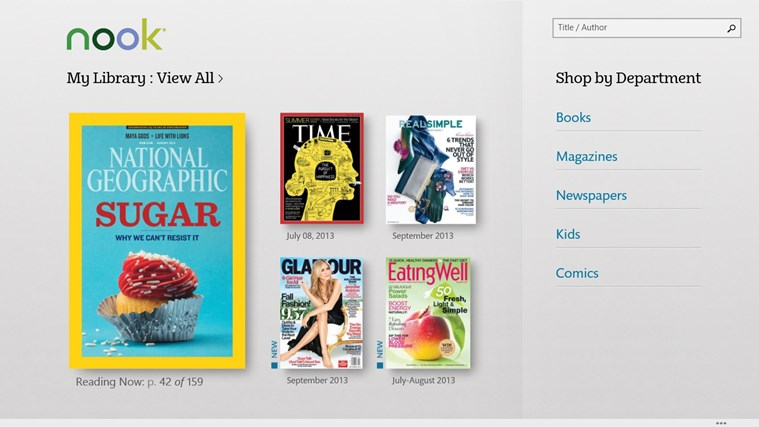 NOOK – Books, Magazines, Newspapers, Comics screen shot 1