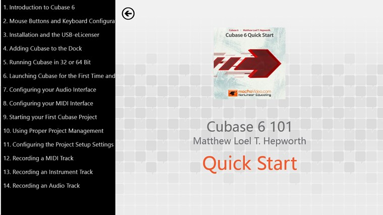 Cubase 6: Quick Start screenshot 1