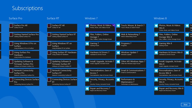 Windows and Surface Community Reader screen shot 1