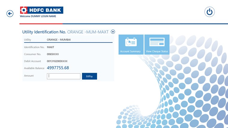 HDFC Net Banking Login Credit Card