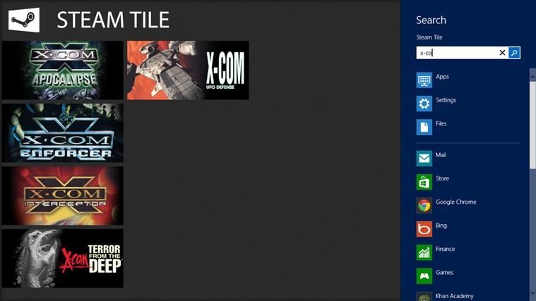 Steam Tile screen shot 1