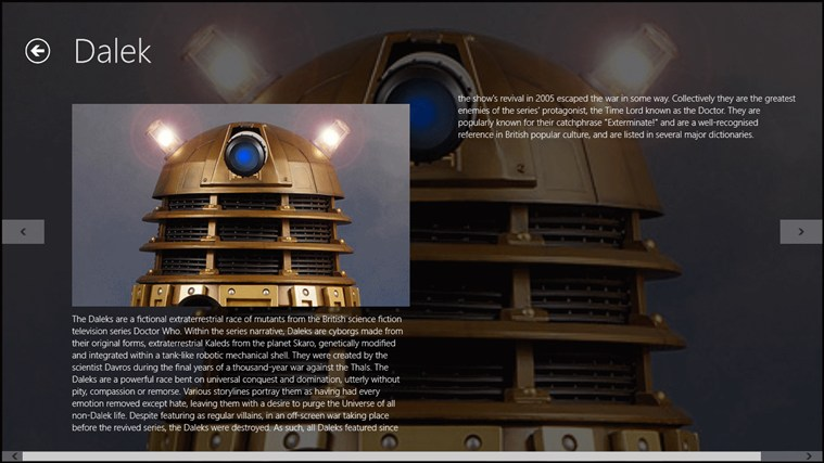 Dr Who Companion screen shot 3