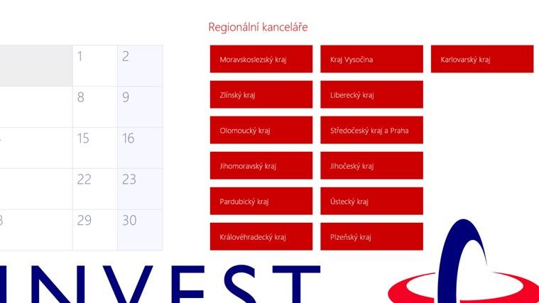 CzechInvest snímek obrazovky 1