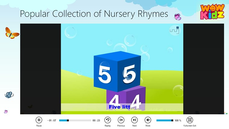 Popular Collection of Nursery Rhymes screen shot 3