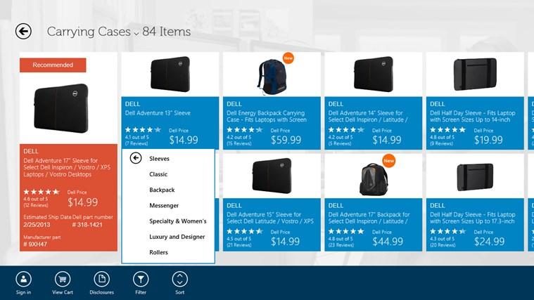 Dell Shop screen shot 3