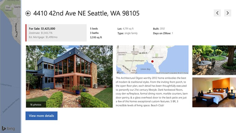 Zillow screen shot 3