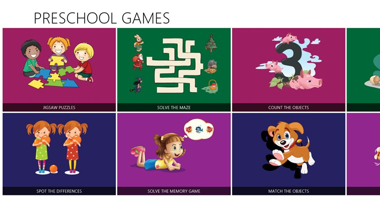 GS Preschool Games Lite screen shot 1