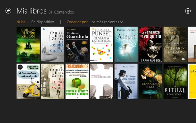 Kindle captura de pantalla 1