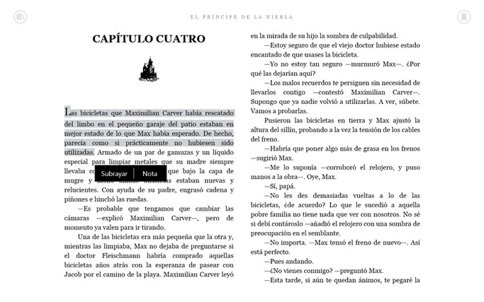 Kindle captura de pantalla 5
