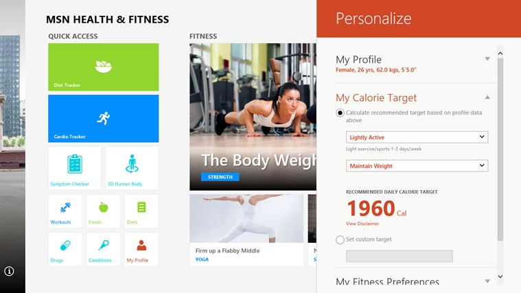 MSN Health & Fitness screen shot 5