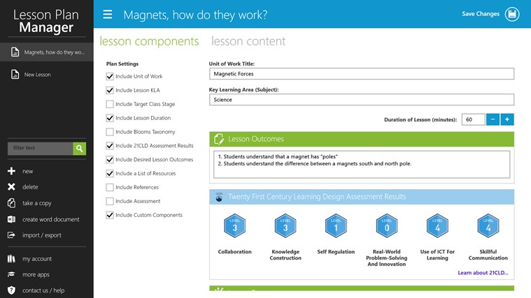 Lesson Plan Manager screen shot 1