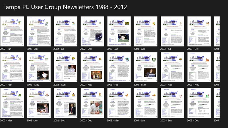 Computer Group Newsletters screen shot 1