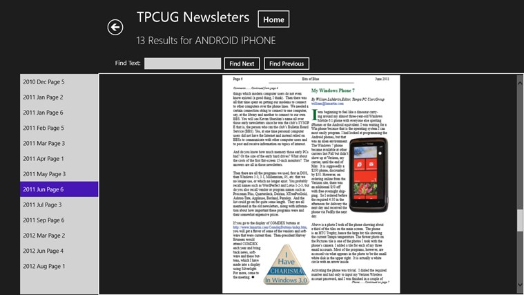 Computer Group Newsletters screen shot 7