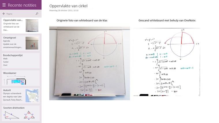 OneNote schermafbeelding 5