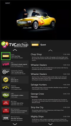 TVCatchup screen shot 5