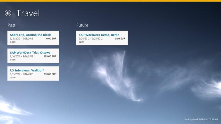 SAP WorkDeck ภาพหน้าจอ 3