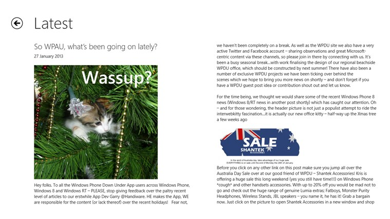 WPDownUnder screen shot 1
