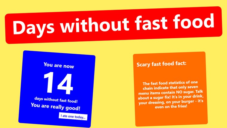 Days without fast food screen shot 3
