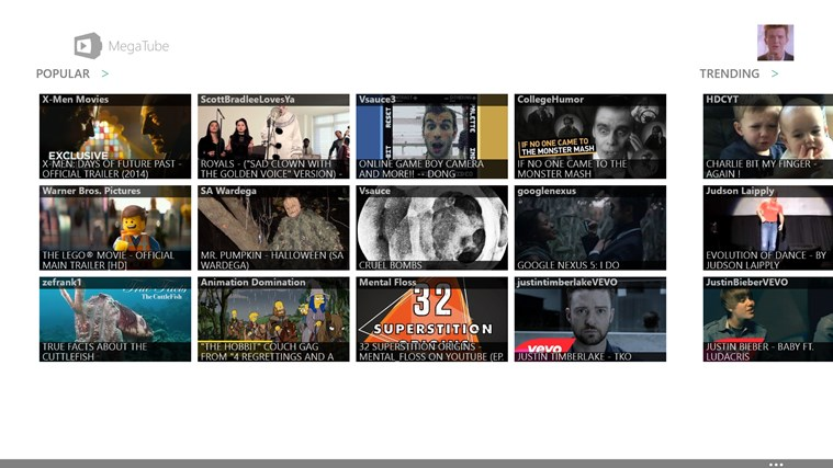 YouTube Player/Downloader - MegaTube screen shot 1