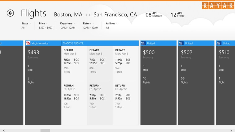 KAYAK Flights & Hotels screen shot 1