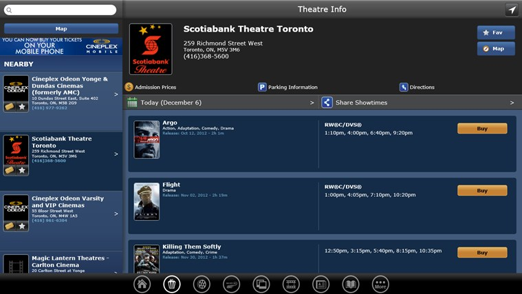 Cineplex screen shot 1