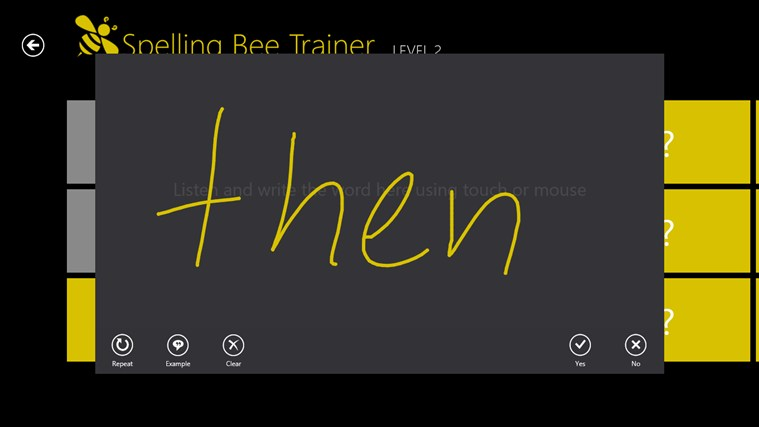 Spelling Bee Trainer screen shot 1