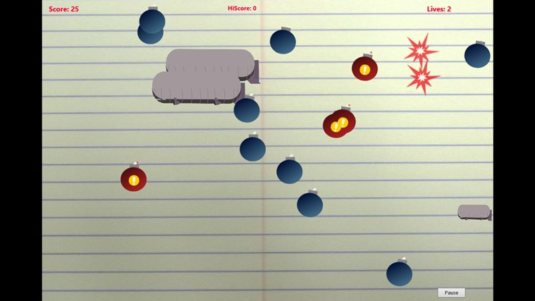 Doodle Bombs screen shot 1