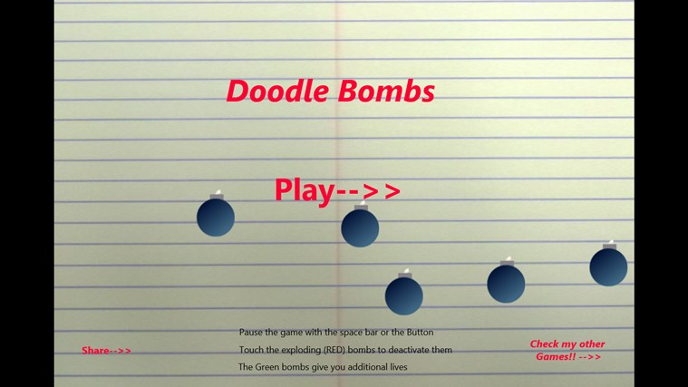 Doodle Bombs screen shot 3