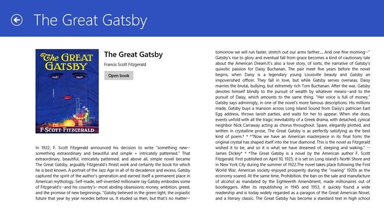 Fiction Book Reader Lite screen shot 1