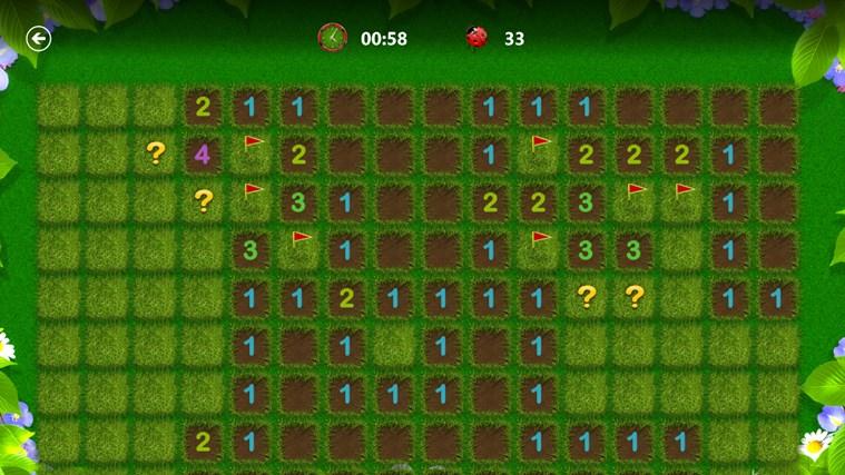 Microsoft Minesweeper snímek obrazovky 3