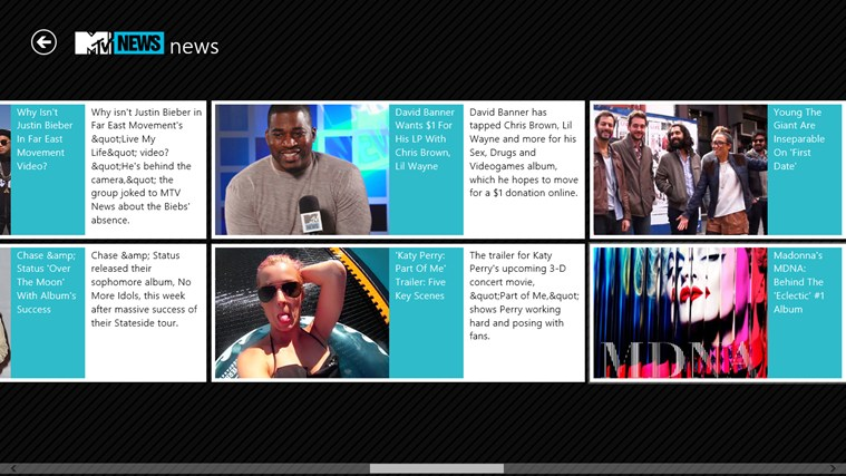 MTV News screen shot 1