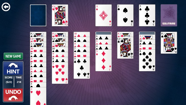 Simple Solitaire screen shot 1