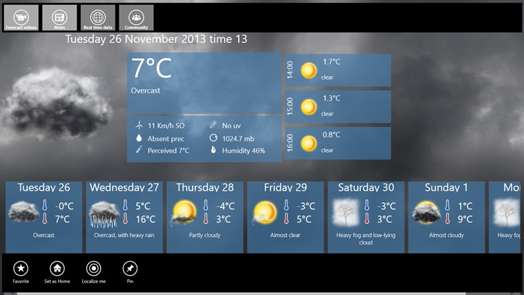 3BMeteo screen shot 1