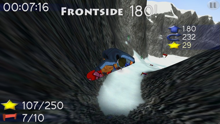Big Mountain Snowboarding screen shot 1