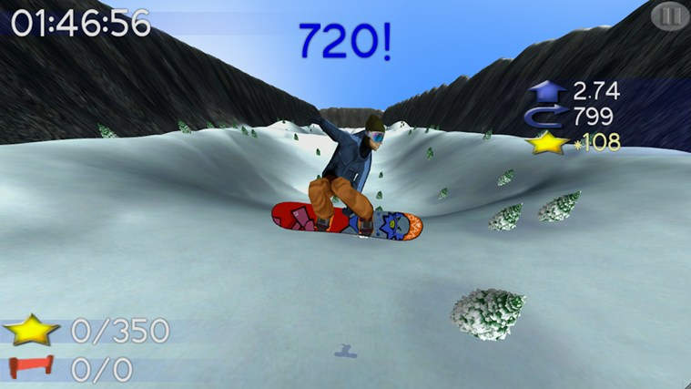 Big Mountain Snowboarding screen shot 3