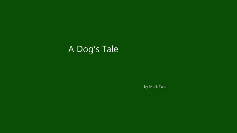 A Dog's Tale by Mark Twain اسڪرين شاٽ 3
