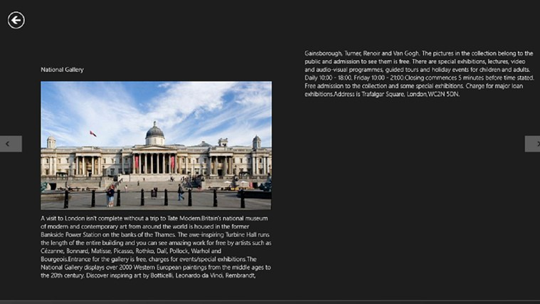Visiting Places in London screen shot 1