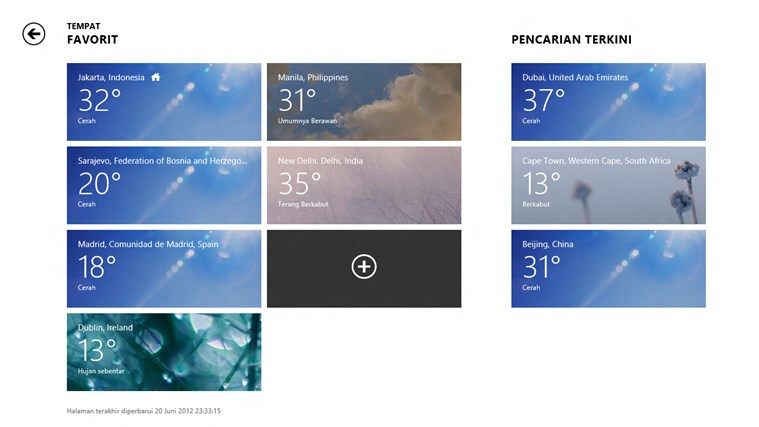 Bing Weather screenshot 3