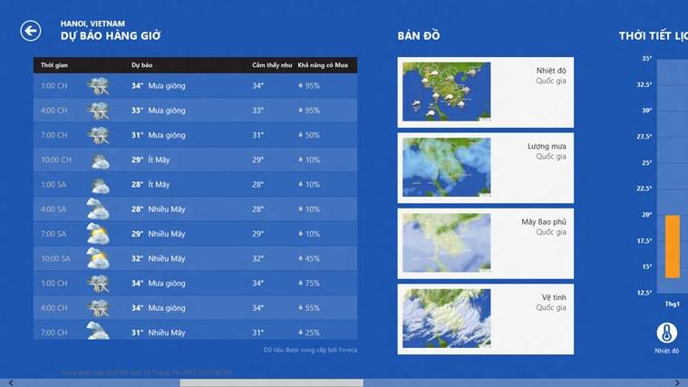 Bing Weather ảnh chụp màn hình 1