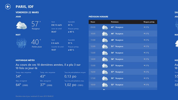 Bing Weather capture d'écran 1