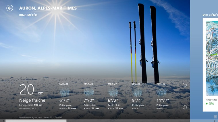 Bing Weather capture d'écran 3