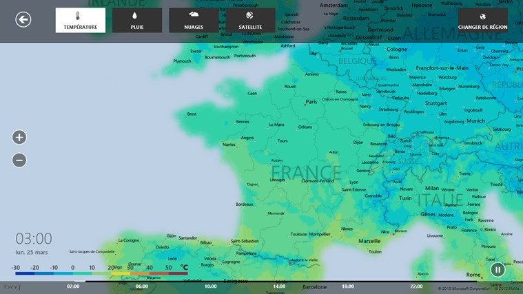 Bing Weather capture d'écran 5