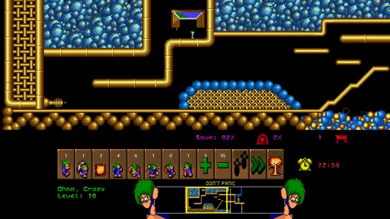 Lemmings screen shot 3