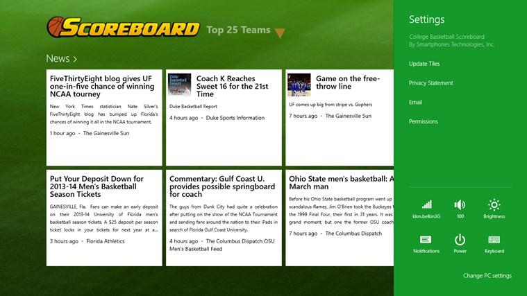 College Basketball Scoreboard screen shot 1