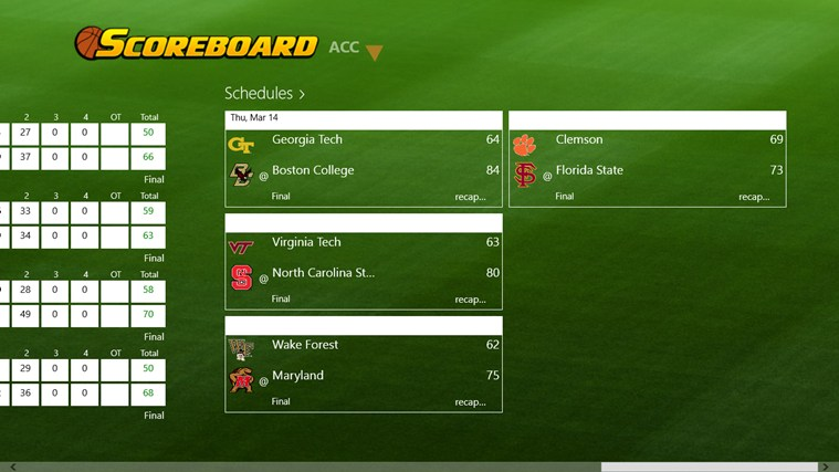 College Basketball Scoreboard screen shot 3