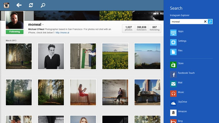 Instagram Explorer screen shot 3