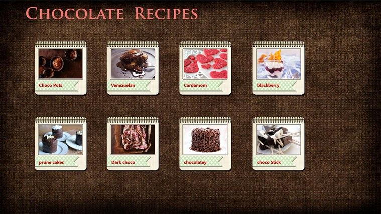 Chocolate Recipes (Delicious) screen shot 1