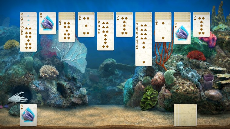 Play a card game in front of your own animated aquarium that comes to life before your eyes!