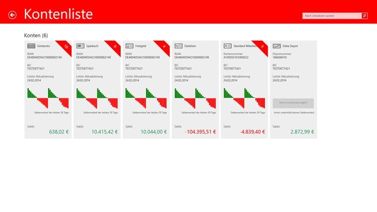 Sparkasse Screenshot 1